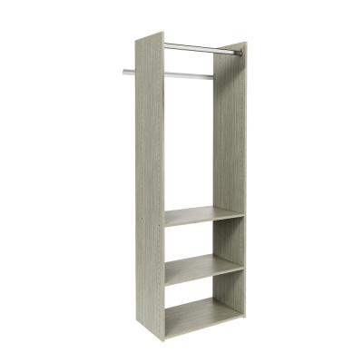 Hanging Starter 25 in. W Rustic Grey Wood Closet Tower System