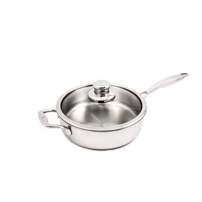 Premium Clad 3.2 qt. Stainless Steel Saute Pan with Glass Lid