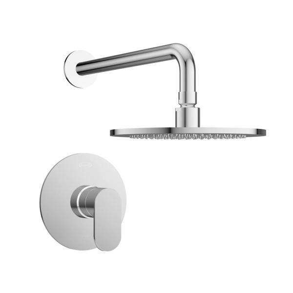 Razzo Single-Handle 1-Spray Round Shower Faucet in Polished Chrome (Valve Included)
