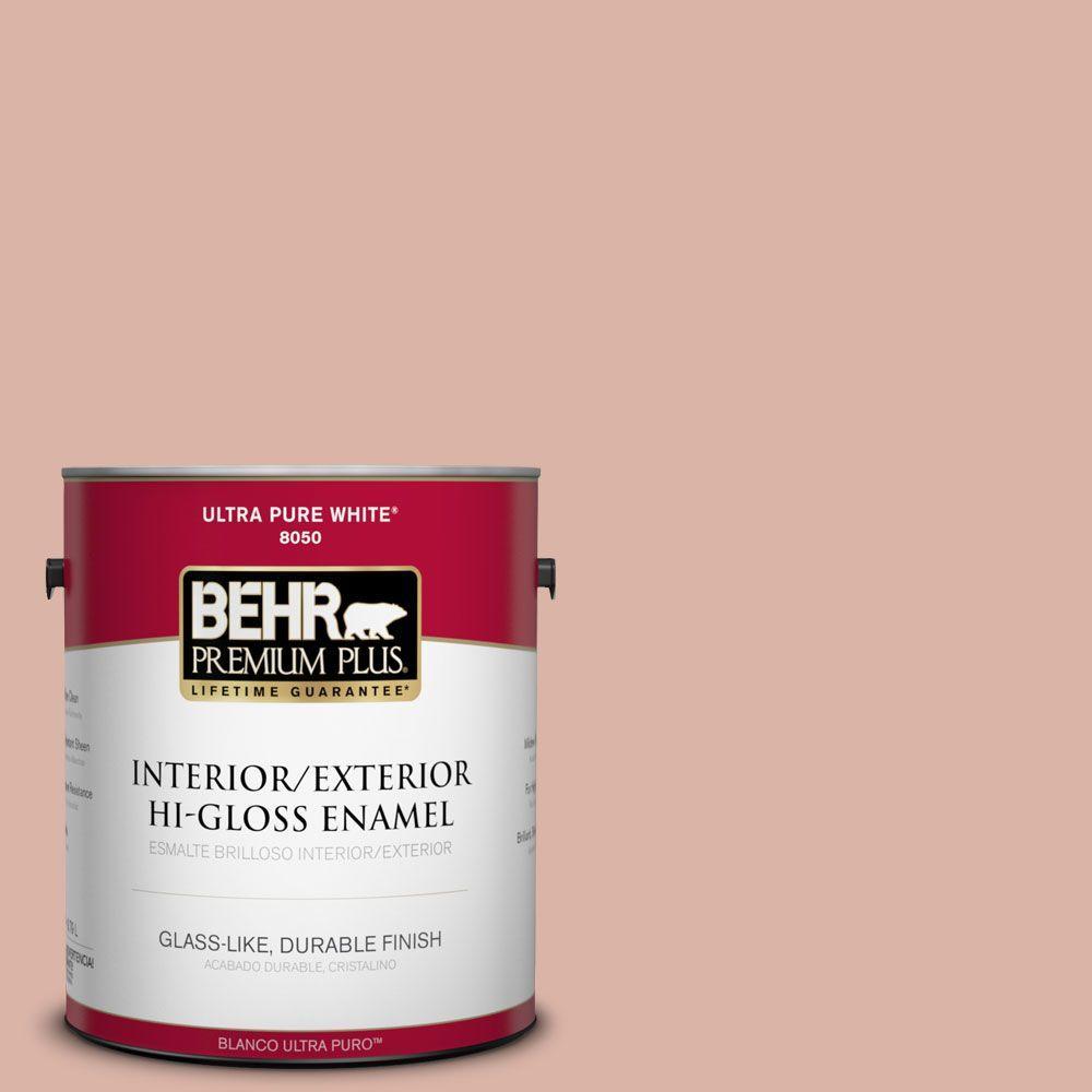 BEHR Premium Plus 1-gal. #210F-4 Cinnamon Whip Hi-Gloss Enamel Interior/Exterior Paint
