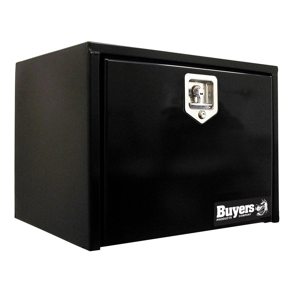 Black Steel Underbody Truck Box with T-Handle Latch, 14 in. x