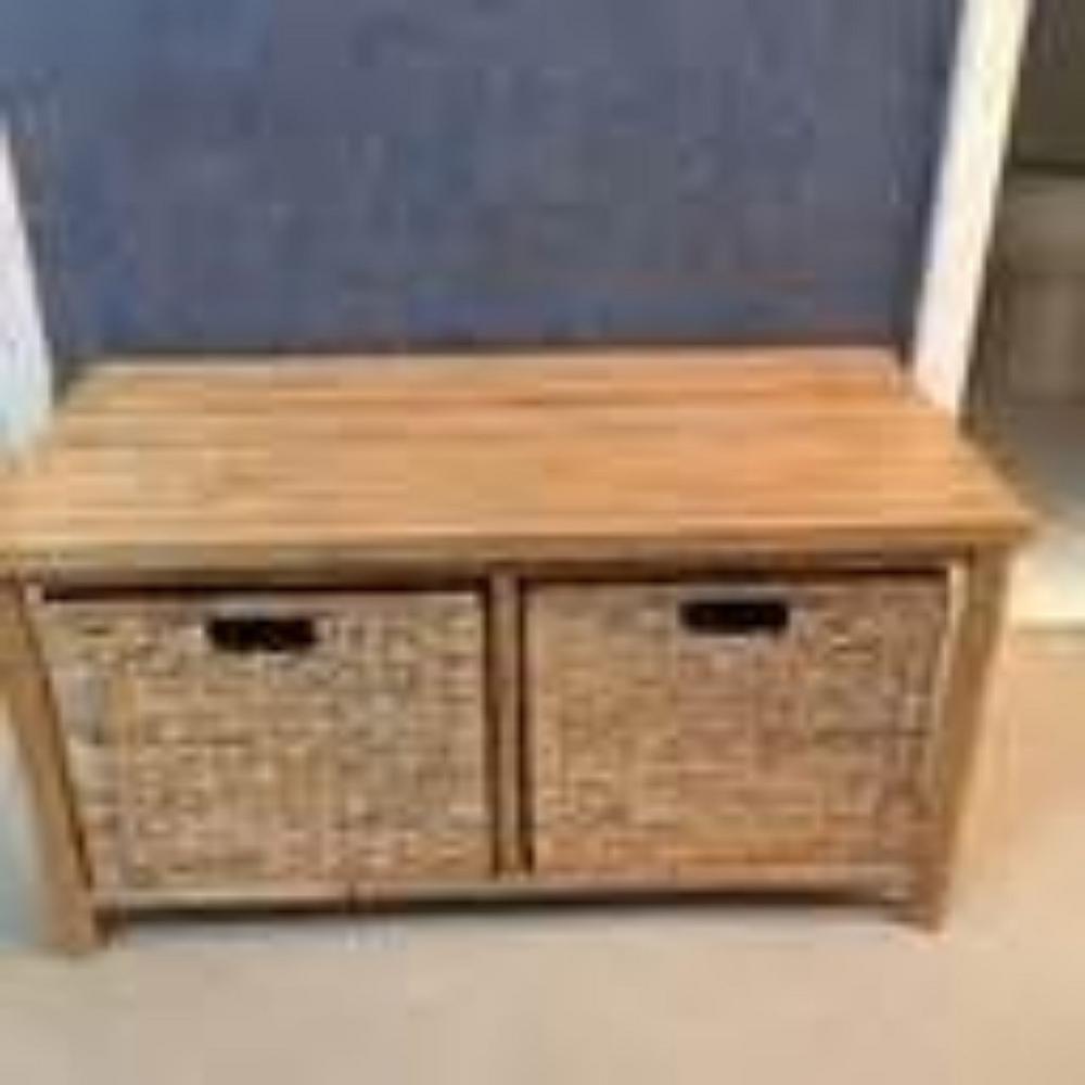Terrific Homeroots Shelly Natural Bamboo Storage Bench 294767 The Customarchery Wood Chair Design Ideas Customarcherynet