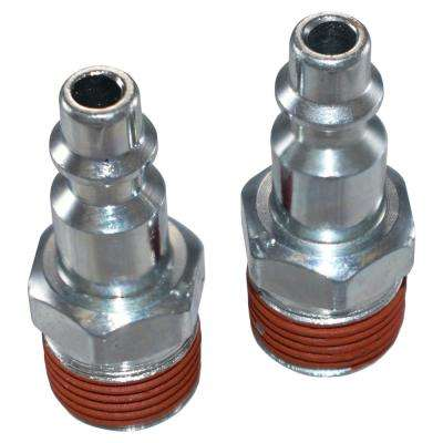 1/4 in. (IM) Plug - 3/8 in. NPT (M) (2-Pack)