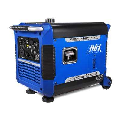 3000-Watt Gasoline Powered Portable Digital Inverter Generator w/Electric Start and Smart Paralleling (CARB Compliant)