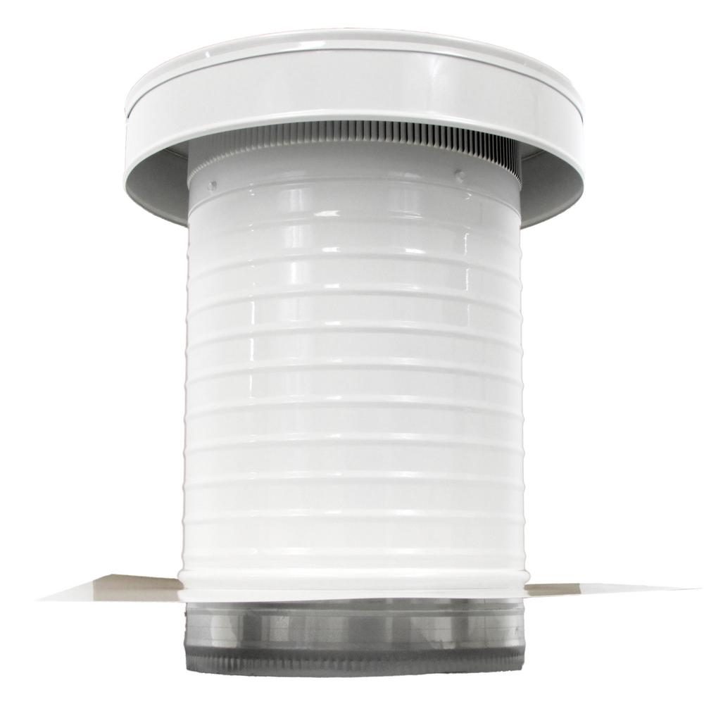 Active Ventilation 10 In Dia Aura Pvc Vent Cap Exhaust