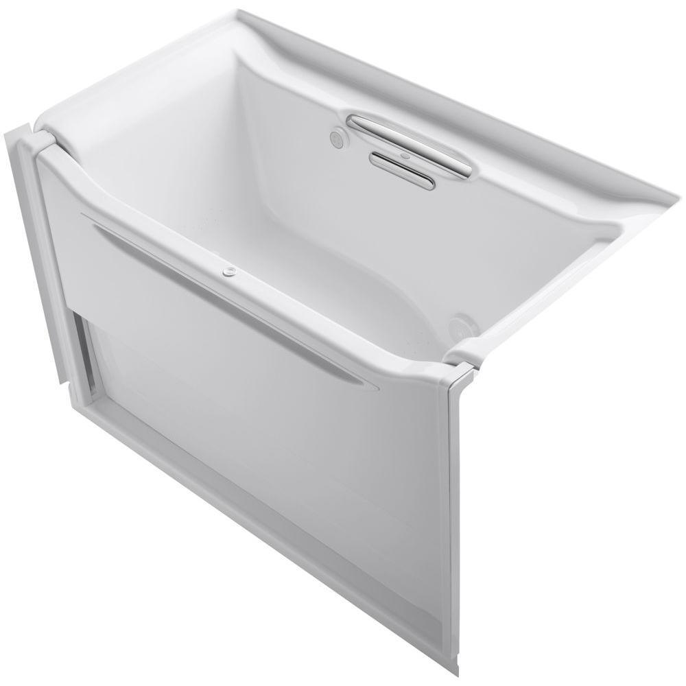 KOHLER Elevance 5 ft. Rectangle Right Drain Air Bath Tub in White