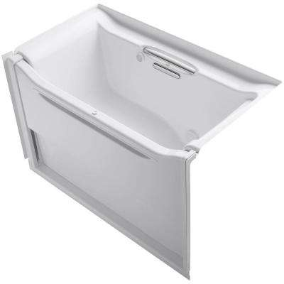 Elevance 5 ft. Rectangle Right Drain Air Bath Tub in White