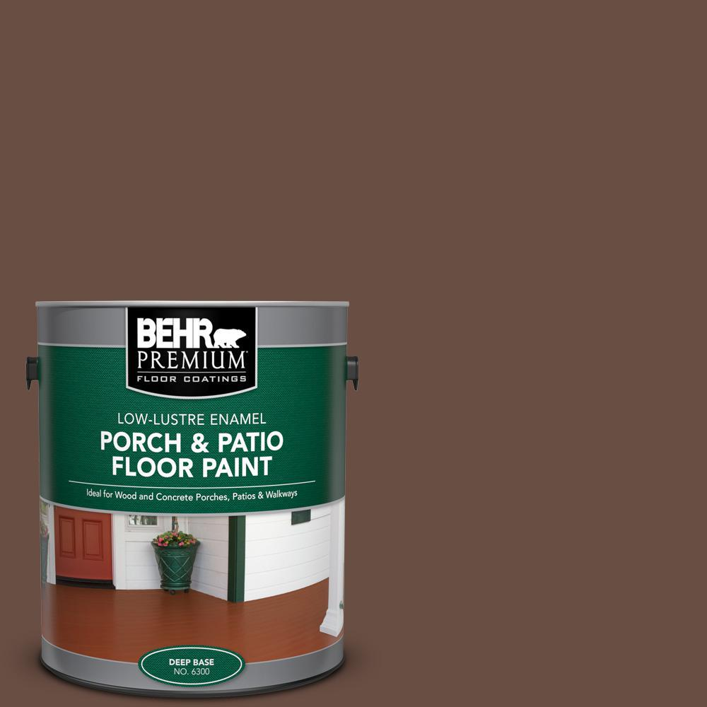 Behr Premium 1 Gal N190 7 Moose Trail Low Lustre Enamel Interior Exterior Porch And Patio Floor Paint 630001 The Home Depot