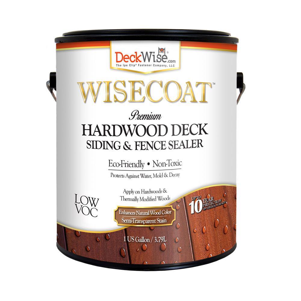 WiseCoat 1 gal. Hardwood Deck Siding and Fence Satin Semi-Transparent Waterproofer