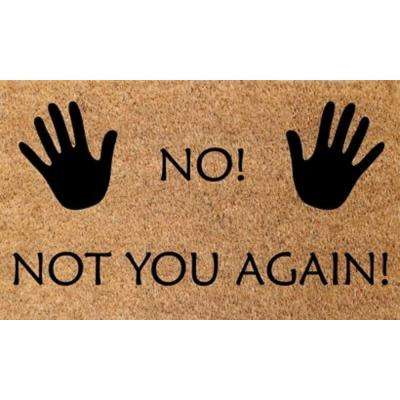 Vale No Not You Again 18 in. x 30 in. Door Mat