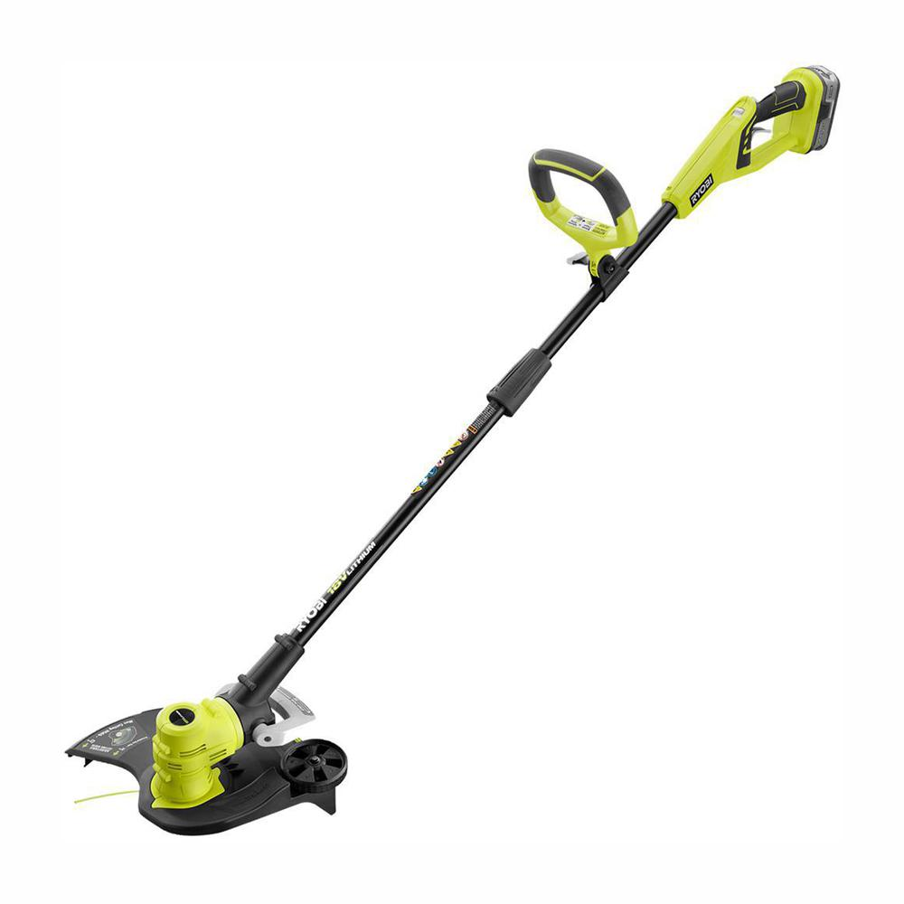 RYOBI Reconditioned ONE+ 18-Volt Lithium-Ion Cordless String Trimmer/Edger - 4.0 Ah Battery and Charger Included