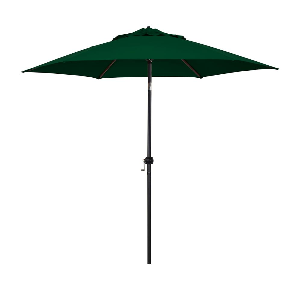 Astella 9 ft. Steel Market Push Tilt Patio Umbrella in Polyester Hunter Green