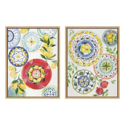 Sylvie Positano Inspired 24 in. x 18 in. by Patricia Shaw Framed Canvas Wall Art