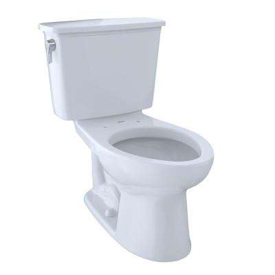 Eco Drake Transitional 2-piece 1.28 GPF Single Flush Elongated Toilet with 10 in. Rough-In in Cotton White