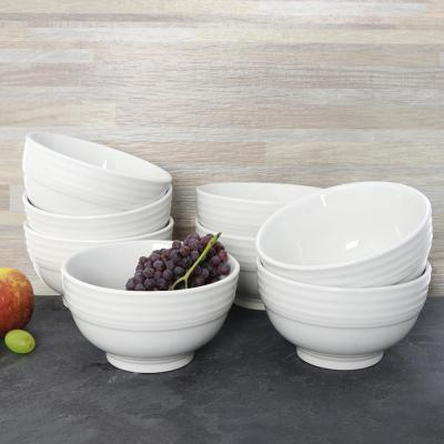 22 fl. oz. White Stoneware Bowl (Set of 8)