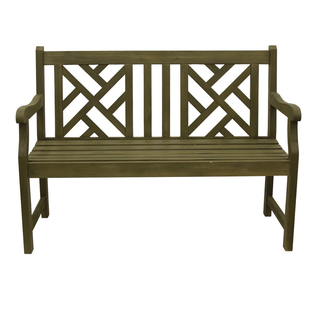 Atlantic 48 in. Fern Green Wood Outdoor Bench