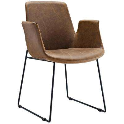 Aloft Brown Dining Armchair