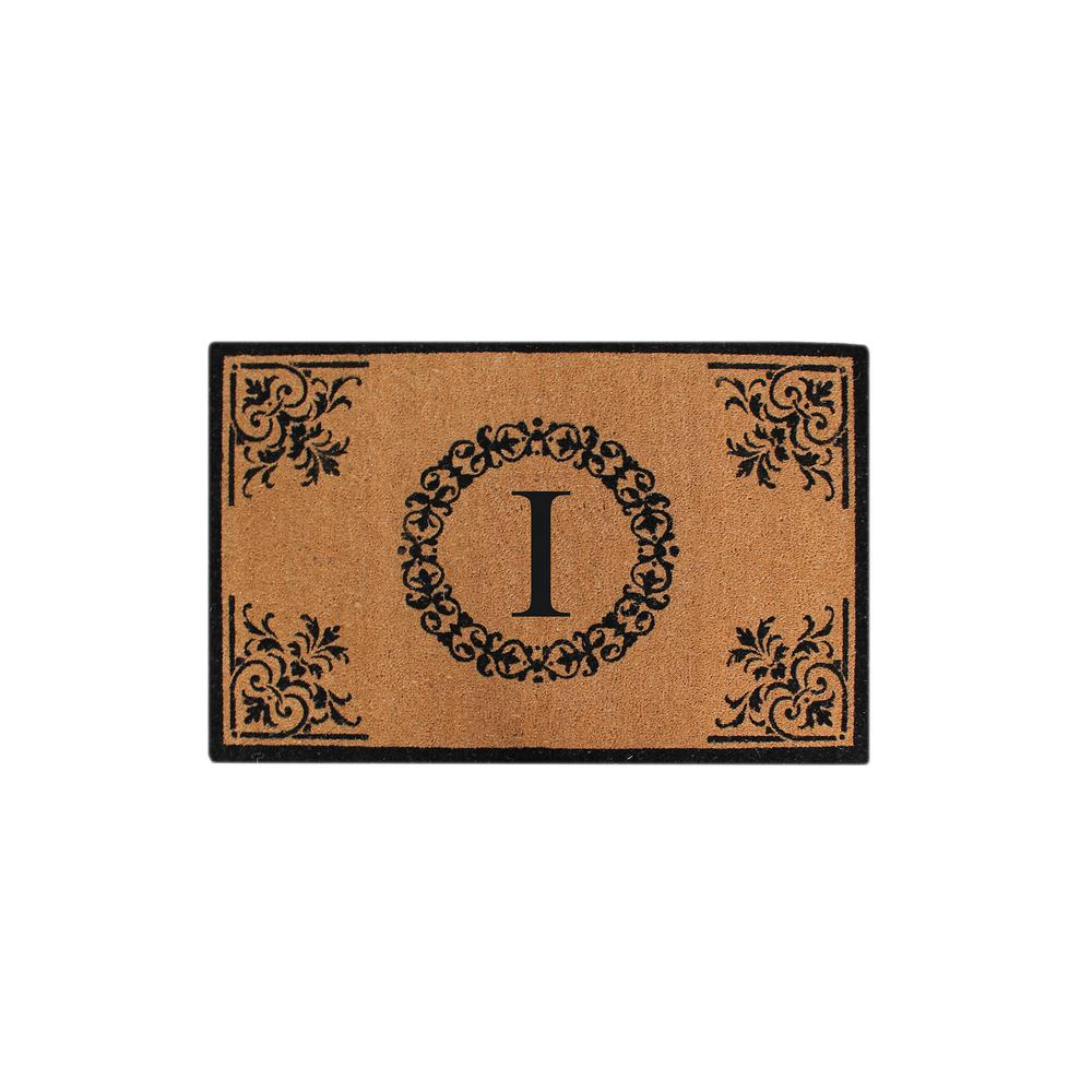 A1hc Hand Crafted Floral 30 In X 48 In Monogrammed I