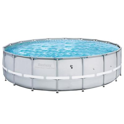 18 ft. Round 52 in. D Steel Frame Hard Side Above Ground Swimming Pool (2-Pack)