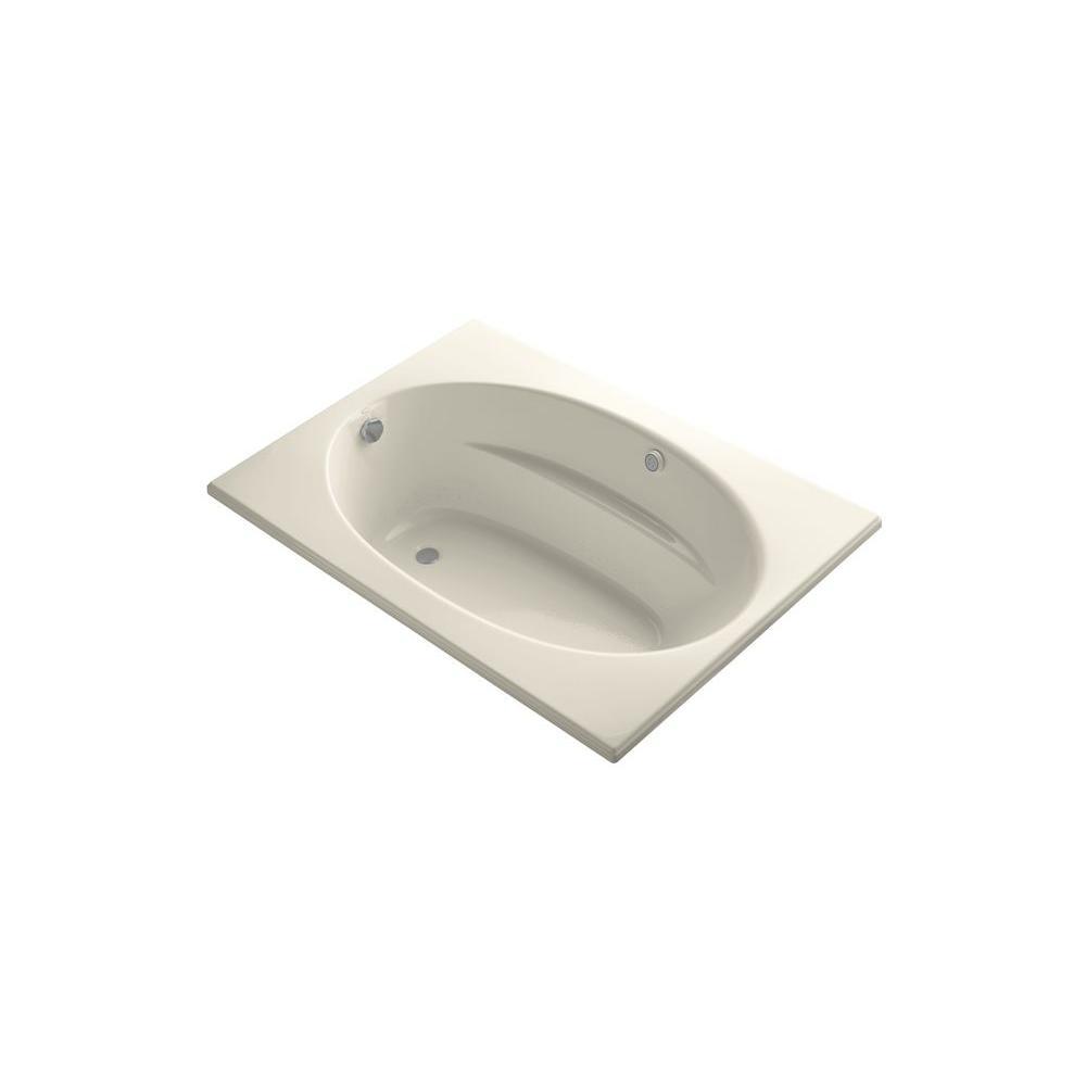 KOHLER Windward 5 ft. Rectangular Drop-in Air Bath Tub in Almond