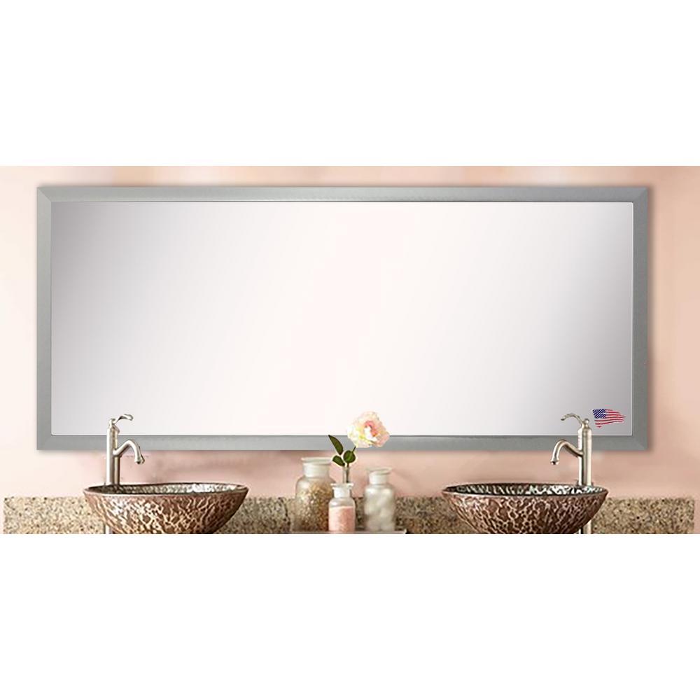 67 in. x 34 in. Juliet Soft Silver Double Vanity Mirror