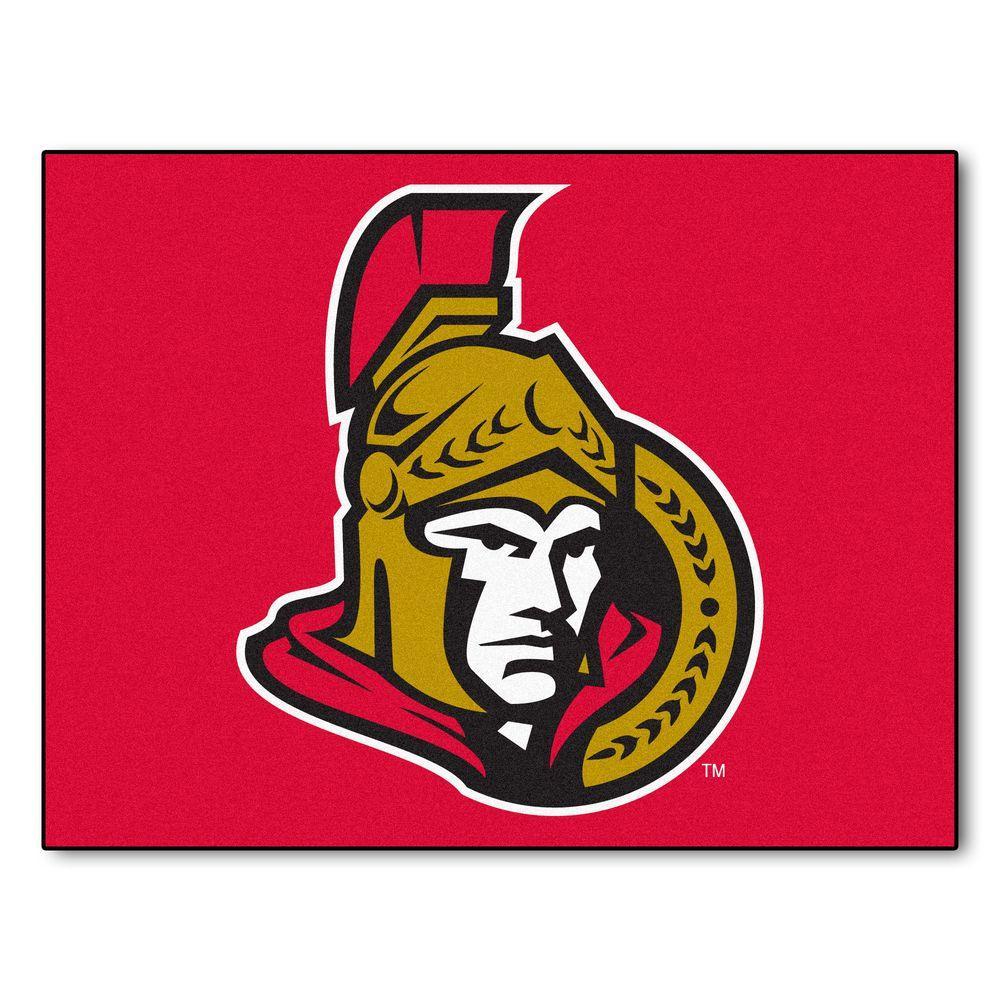 NHL Ottawa Senators Red 3 ft. x 4 ft. Indoor All Star Area Rug