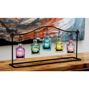 12 inch 5-Jar Suspended Votive Candle Holders in Multi Color by