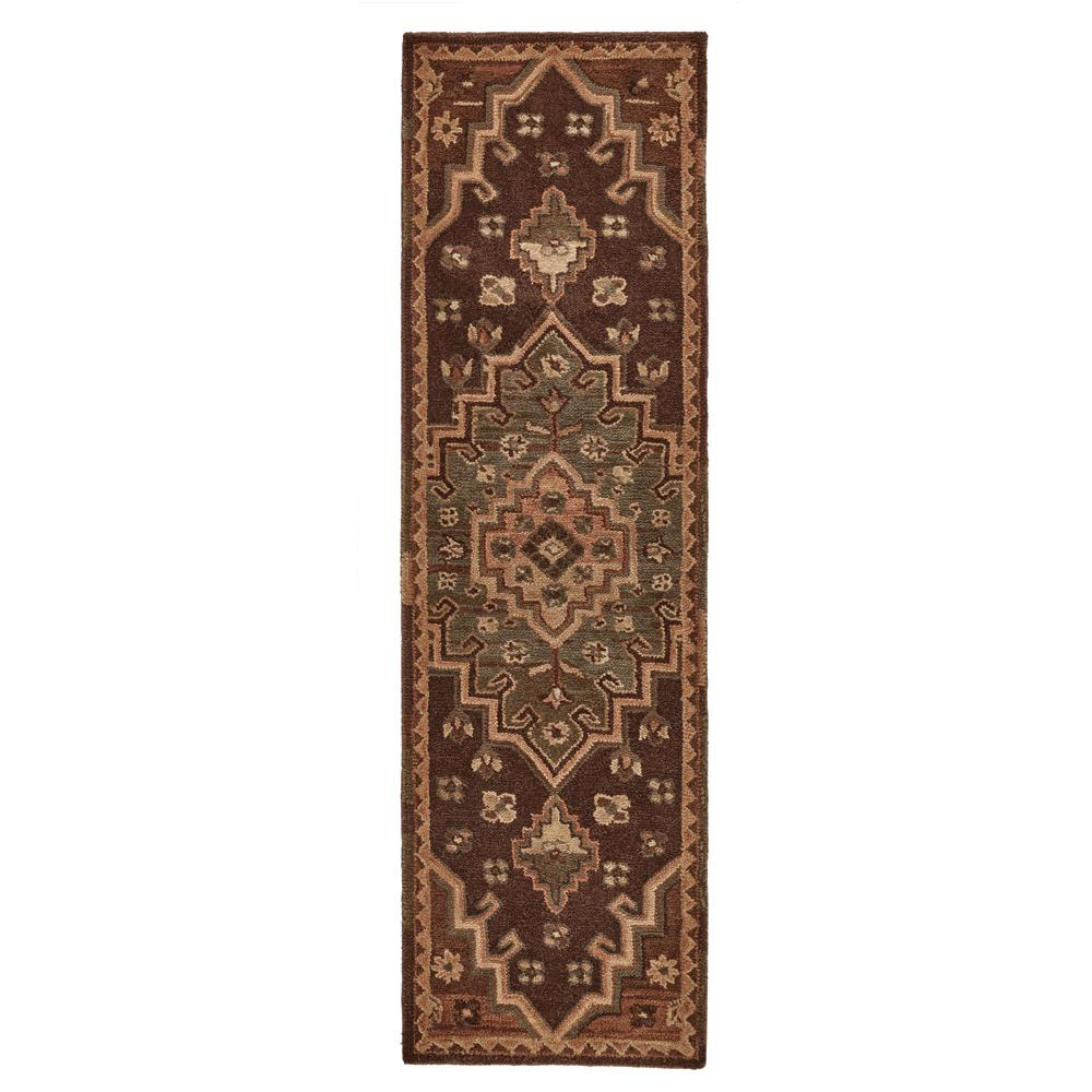 Home Decorators Collection Izmir Chocolate 2 Ft X 7 Ft Wool Tuft Runner Rug 98505 The Home Depot