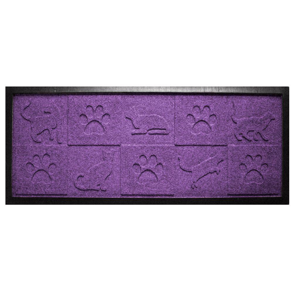 Aqua Shield Purple 15 in. x 36 in. Cat in the Mat Boot Tray