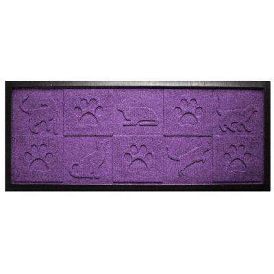 Aqua Shield Purple 15 in. x 36 in. Cat in the Mat Boot Tray