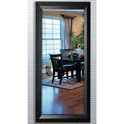 30 5 In X 71 25 Solid Black Angle Beveled Oversized Full Mirror
