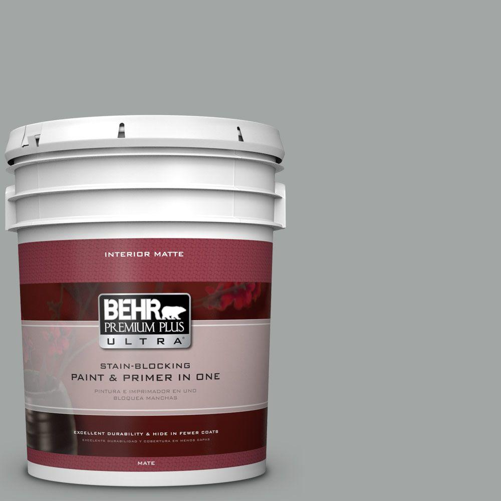 BEHR Premium Plus Ultra 5 gal. #PPU25-04 Sharkskin Suit M...