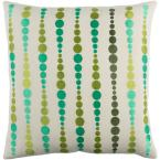 Lilestone Green Graphic Polyester 18 in. x 18 in. Throw Pillow