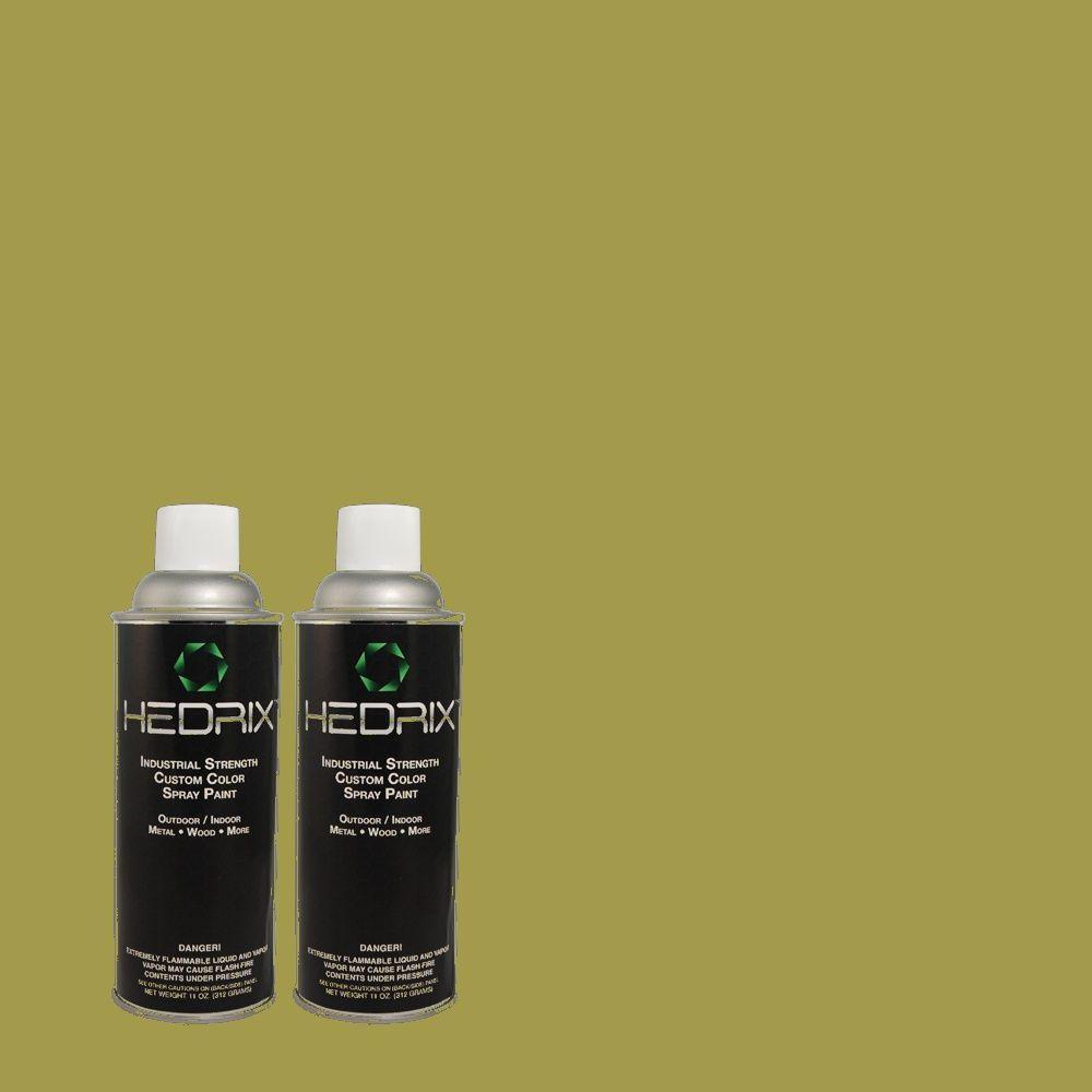 Hedrix 11 oz. Match of 400D-6 Grape Leaves Semi-Gloss Custom Spray Paint (2-Pack)