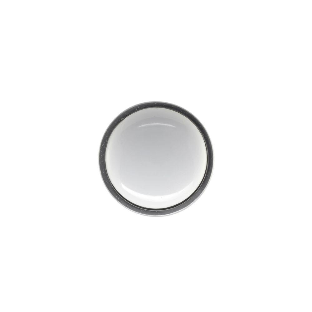 null Perennial 1 in. White Ceramic and Satin Nickel Coat Hook