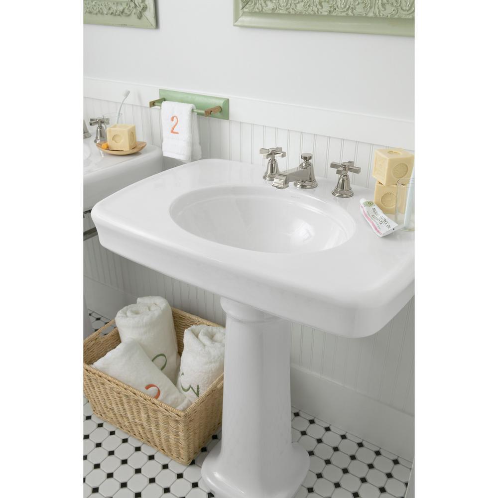 Kohler K 2338 4 K4 Bancroft Pedestal Bathroom Sink With Centers For 4 Centers Cashmere Tools Home Improvement Kitchen Bath Fixtures Fcteutonia05 De