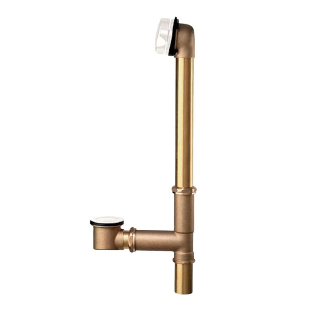Brass Universal Bath Drain in White
