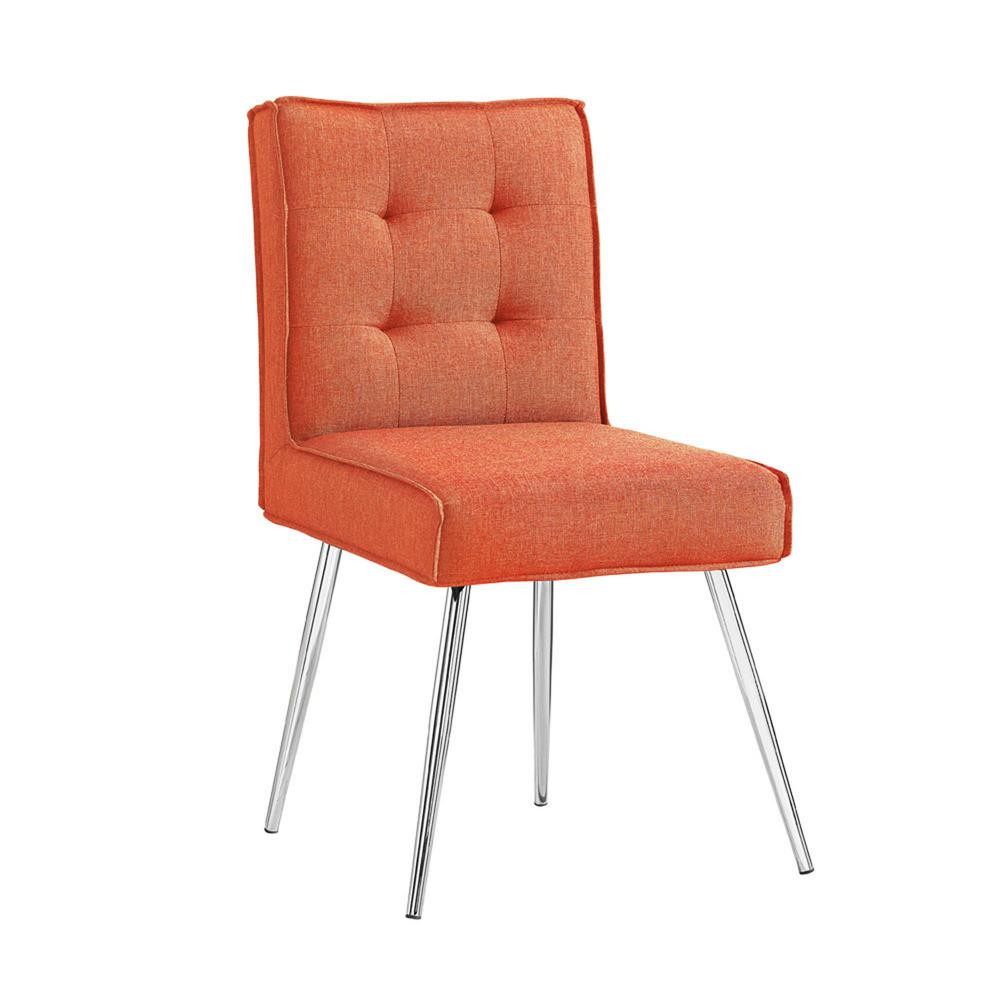 Linon Home Decor Astra Orange Polyester Side Chair (Set Of 2)