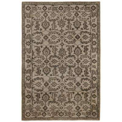 Fortress Cream/Brown 5 ft. x 8 ft. Area Rug