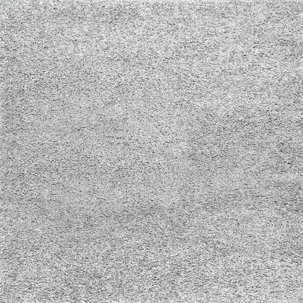 Marleen Plush Shag Silver 10 ft. Square Rug