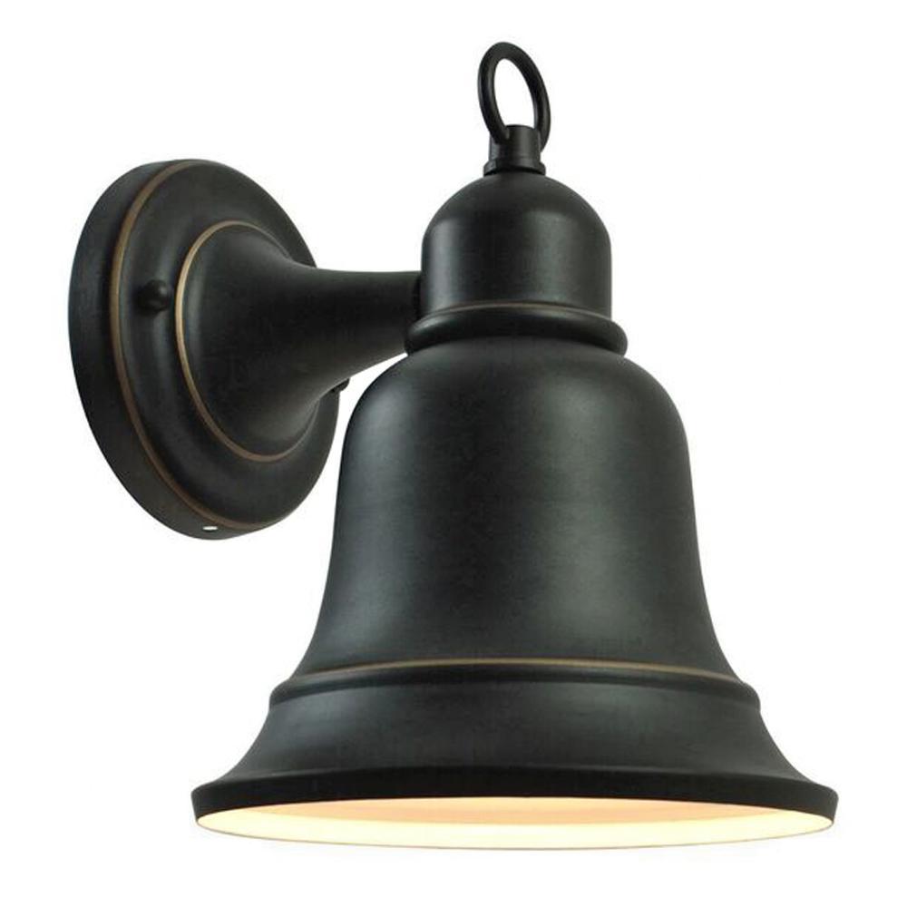 1-Light Oil Rubbed Bronze Outdoor Wall Lantern Sconce Dark Sky Compliant
