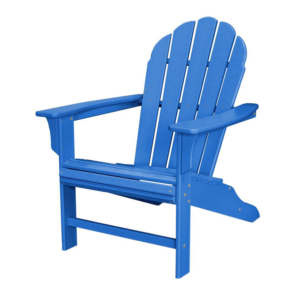Superior Trex Outdoor Furniture HD Pacific Blue Patio Adirondack Chair TXWA16PB    The Home Depot