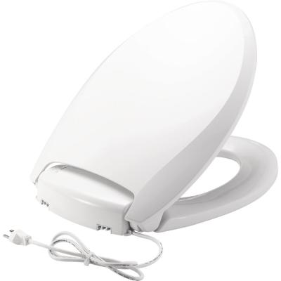 Radiance Heated Elongated Closed Front Toilet Seat in White