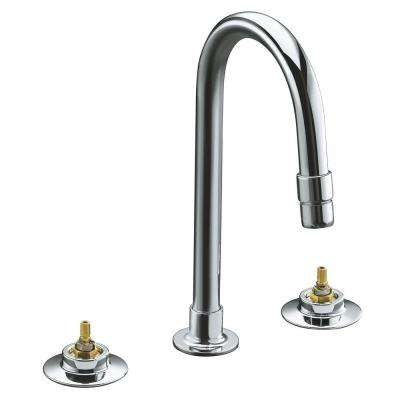 Triton 8 in. Widespread 2-Handle Mid-Arc Commercial Bathroom Faucet in Polished Chrome