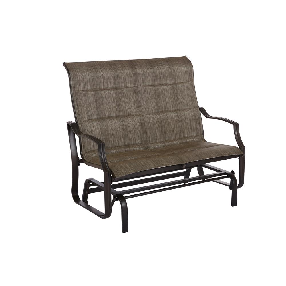 Delicieux Statesville Pewter Aluminum Outdoor Glider