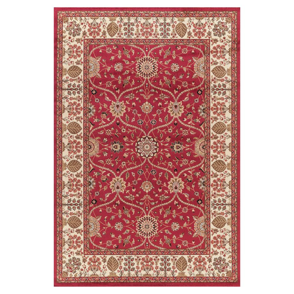 Concord Global Trading Jewel Voysey Red 5 Ft 3 In X 7 Ft