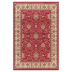 Jewel Voysey Red 7 ft. x 9 ft. Area Rug