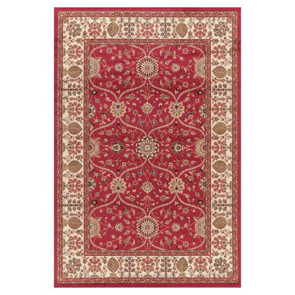 Jewel Voysey Red 8 ft. x 10 ft. Area Rug