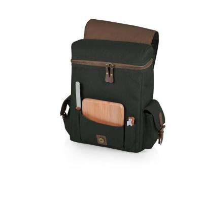 Moreno Khaki Green 3-Bottle Wine & Cheese Tote