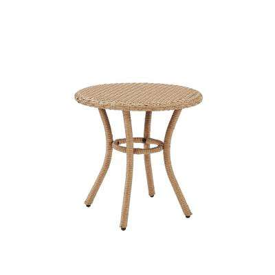 Light Brown Wicker Outdoor Side Table Palm Harbor